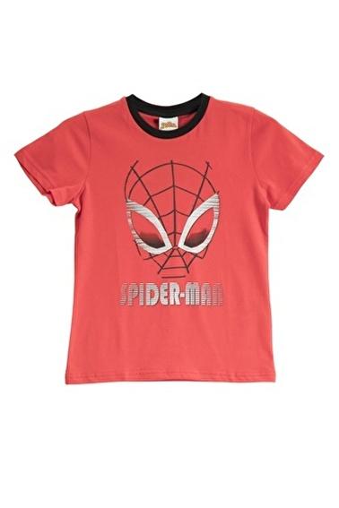 Spider-Man Spider Man Lisanslı Duman Mavisi Erkek Çocuk T-Shirt Kırmızı